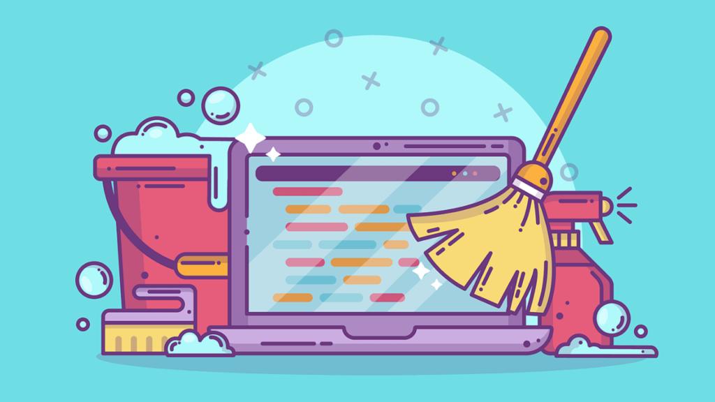 Ilustração para representar um código limpo.