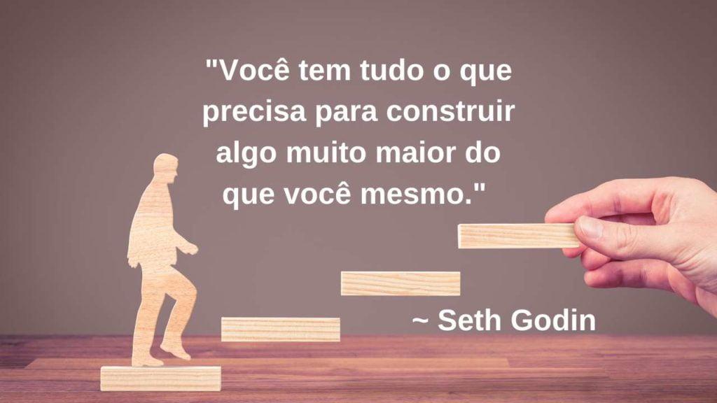 Frase de marketing de Seth Godin.