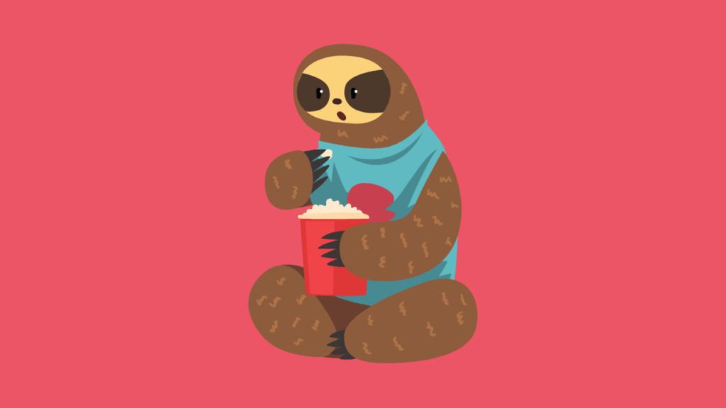 Uma preguiça representando o Angular Lazy Loading