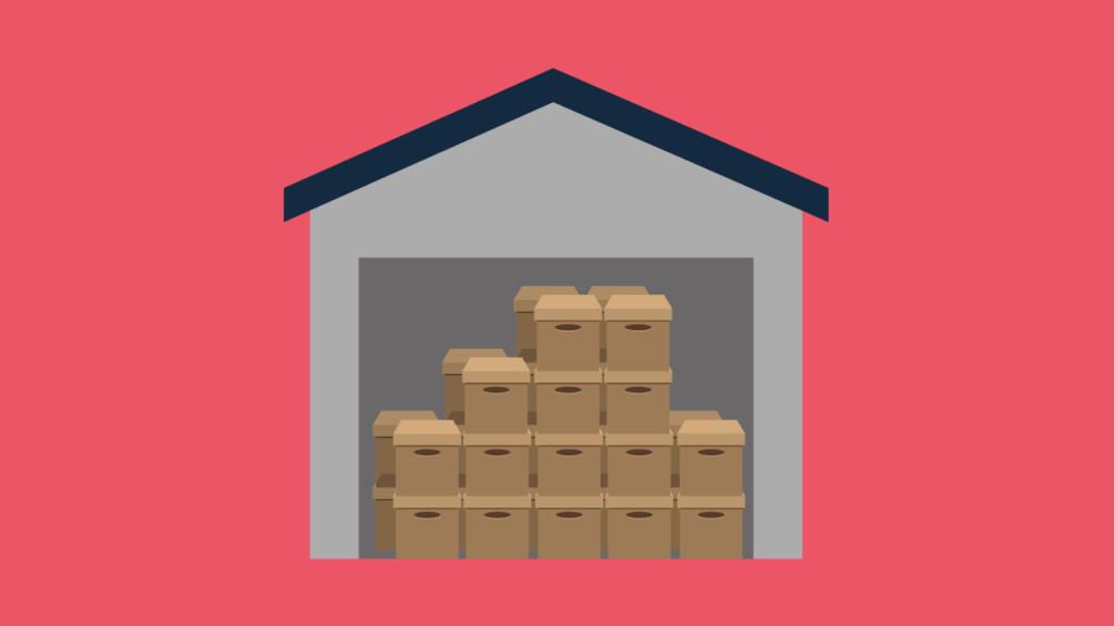 Casa armazenando vários pacotes
