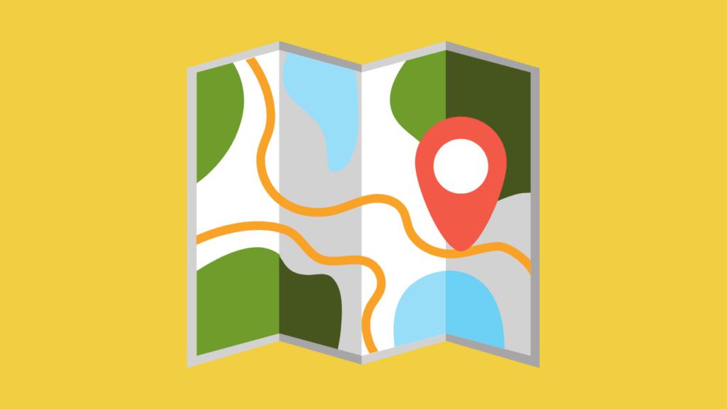 ilustração de um mapa