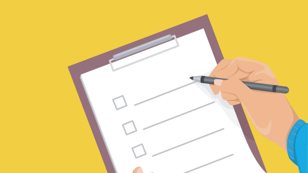 ilustração de checklist