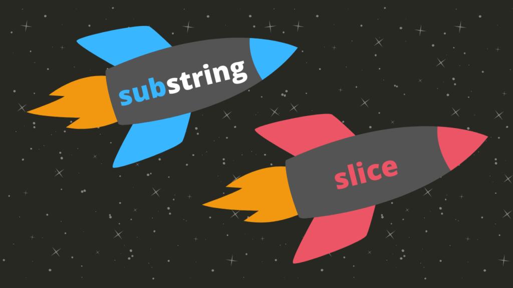 ilustração métodos substring e slice javascript