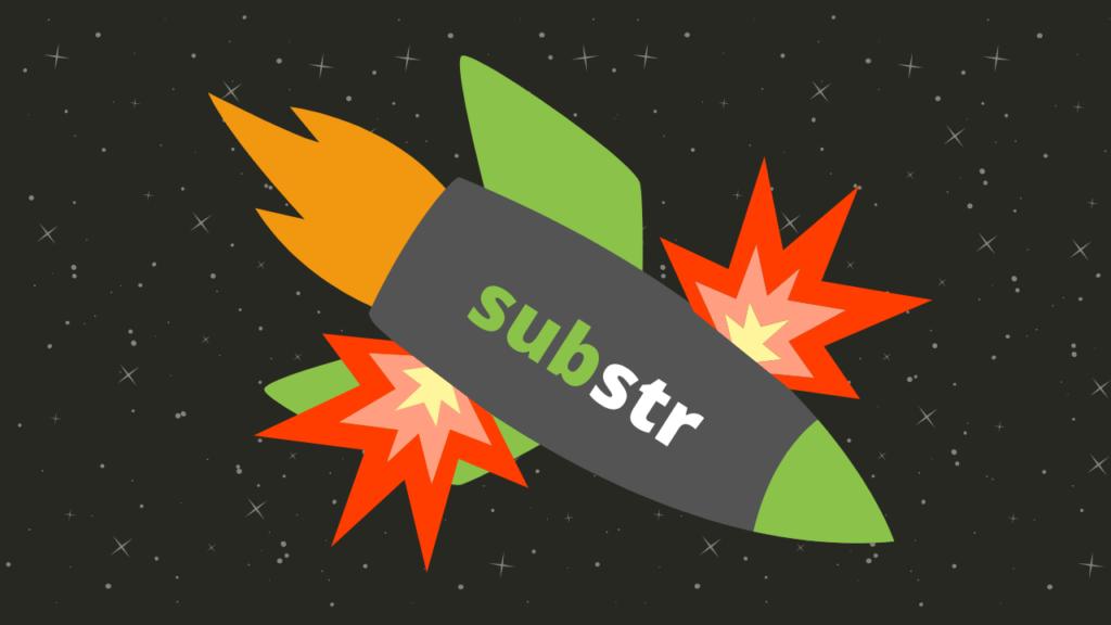 ilustração método substr javascript